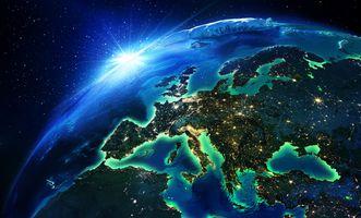 Фото бесплатно голубая планета, космос, атмосфера