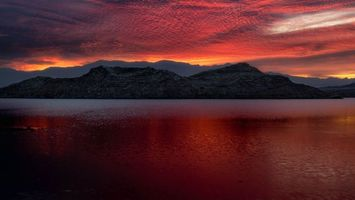 Бесплатные фото медовуха,США,озеро,гора,закат,mead,usa