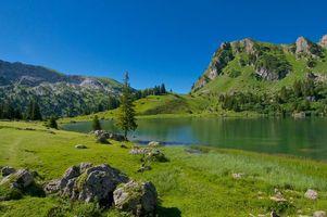 Фото бесплатно Швейцария, Цвайзиммен, горы