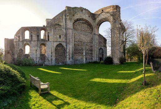 Фото бесплатно церковь, скамейка, Англия