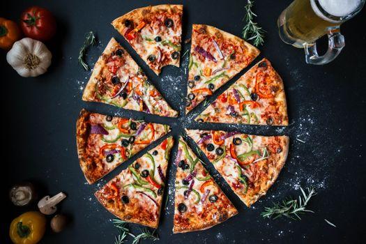 Photo free pizza, food, beer