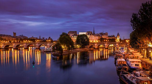 Фото бесплатно France, иллюминация, ночь