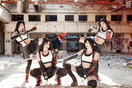 Photo free mikomi hokina, cosplay, tifa