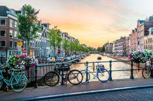 Бесплатные фото канал,Амстердам,Голландия,Нидерланды