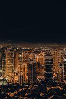Заставки ночной город, небоскребы, городские огни