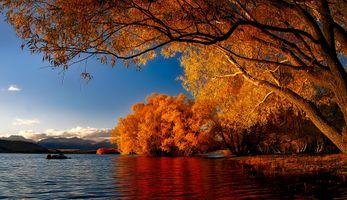 Фото бесплатно Новая Зеландия, озеро Текапо, размышления