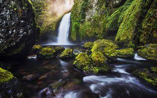 Фото бесплатно поток, водопад, фото