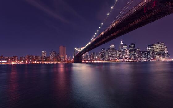 Фото бесплатно бруклинский мост, мост, мир