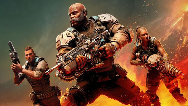 Photo free gears 5, artwork, weapons