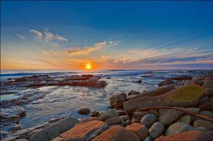 Бесплатные фото закат, море, скалы, камни, волны, пейзаж