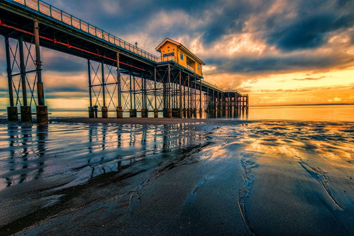 Фото бесплатно море, Великобритания, Пенарт - на рабочий стол