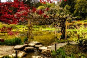 Photo free Japanese garden, park, pond