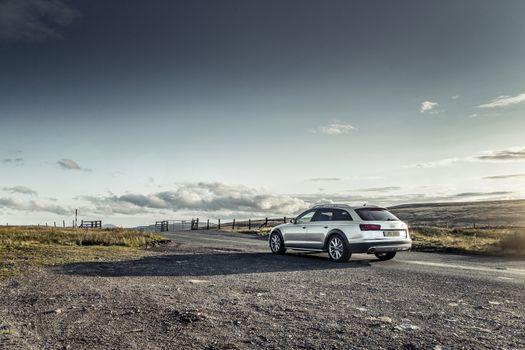 Photo free Audi A6 Avant Quatro, silver, road