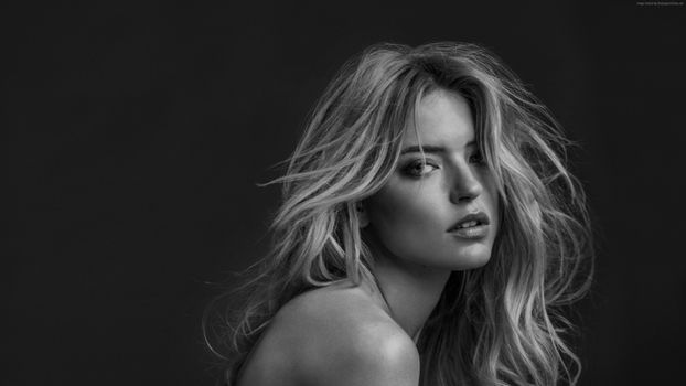 Photo free monochrome, black and white, Martha Hunt