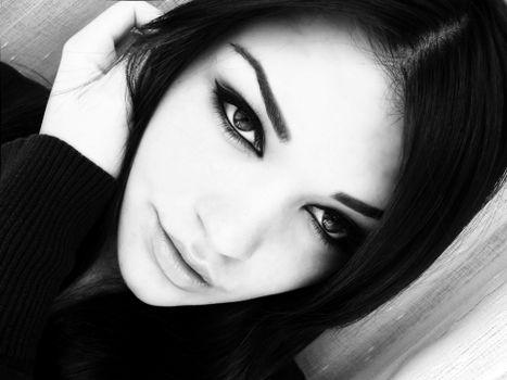 Photo free girl, face, long hair