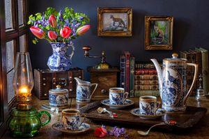 Фото бесплатно еда, цветы, тюльпаны