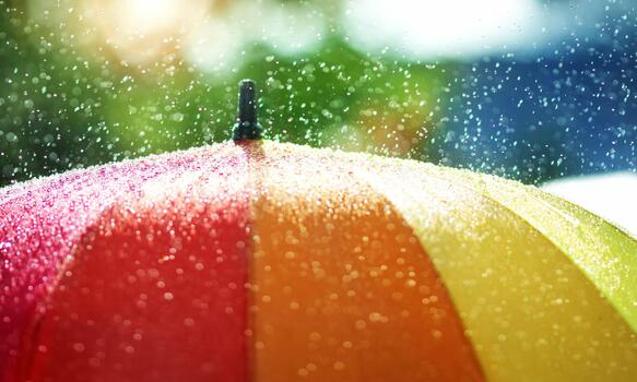 Фото бесплатно дождь, зонтик, цветной
