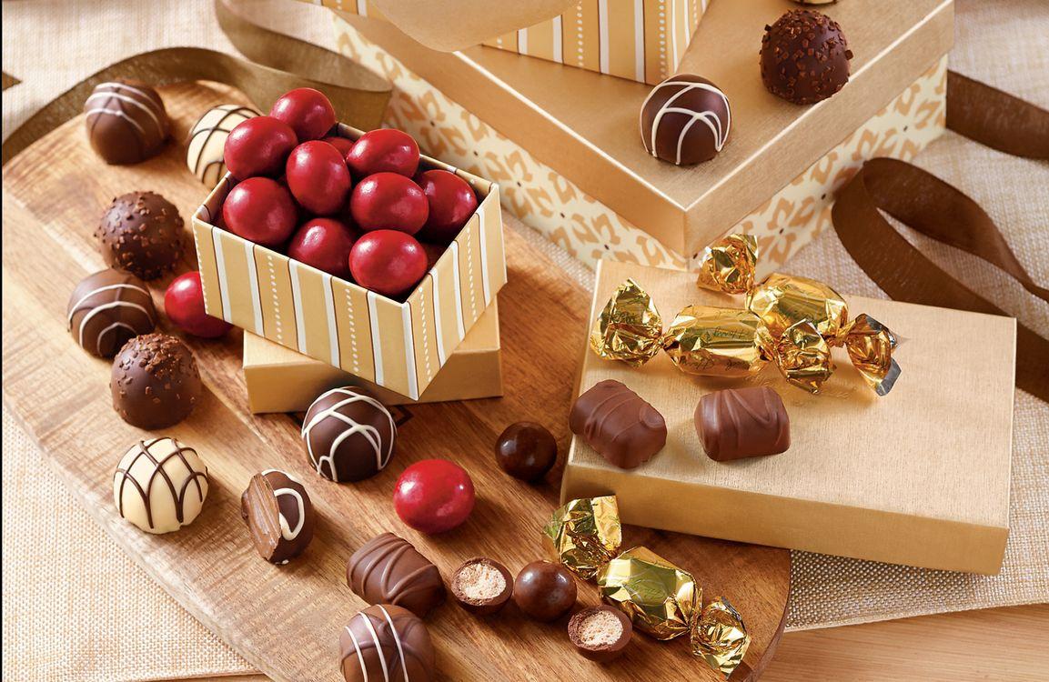 Фото бесплатно box, gift, chocolat, candy, еда