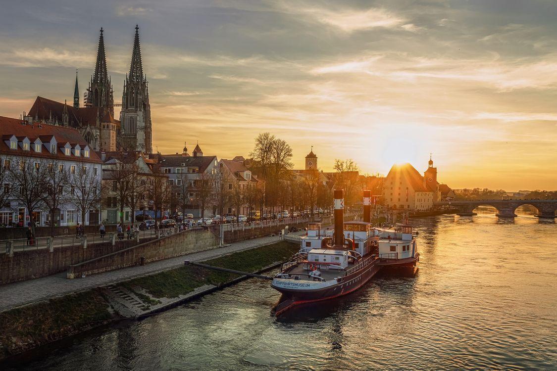 Фото бесплатно Регенсбург, Бавария, Германия - на рабочий стол