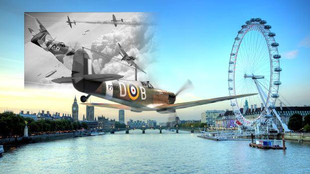 Бесплатные фото самолет,Лондон,spifire,aircraft,London