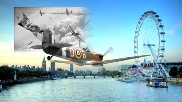 Photo free plane, london, spitfire