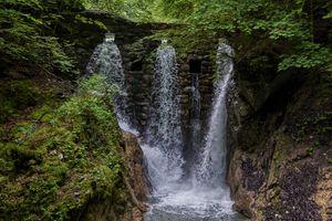 Бесплатные фото Тироль,Австрия,лес,река,скалы,деревья,водопад