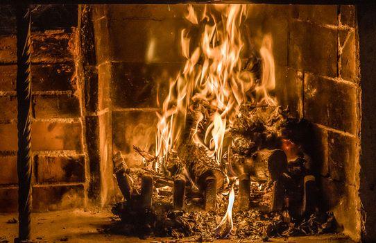 Фото бесплатно печь, камин, огонь