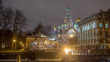 Обои The Church of the Savior on Spilled Blood, St Petersburgh