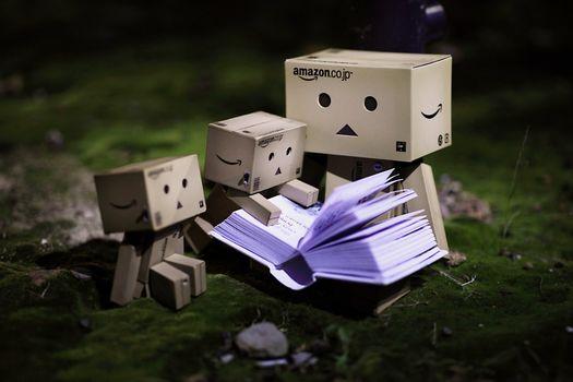 Фото бесплатно danbo, маленький, картонный робот
