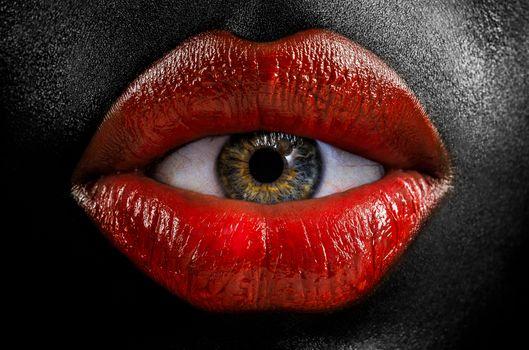 Фото бесплатно губы, глаз, фантазия
