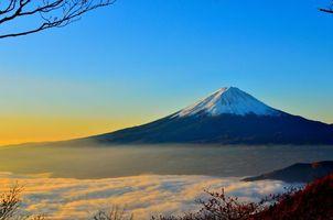Бесплатные фото облака,рассвет,сумерки,туман,HD обои,Япония,пейзаж