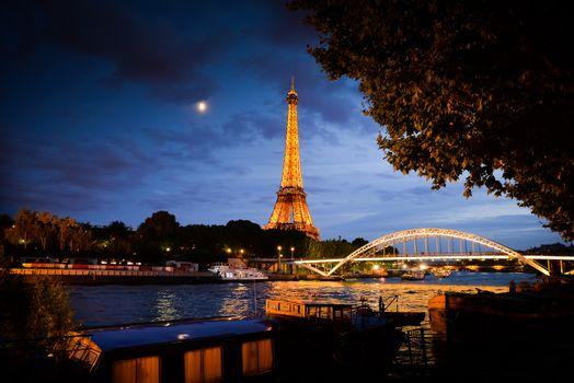 Фото бесплатно Paris by Night, Париж, Франция, Эйфелева башня