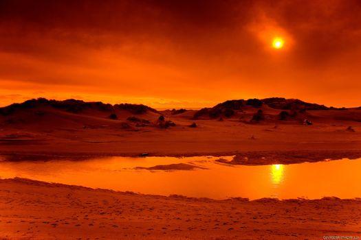 Фото бесплатно закат, окружающая природа, пляж