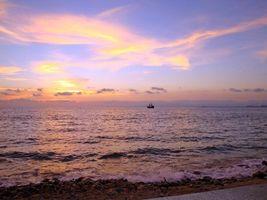Бесплатные фото море, закат, корабль