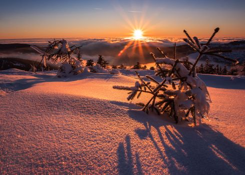 Фото бесплатно зима, облака, пейзаж