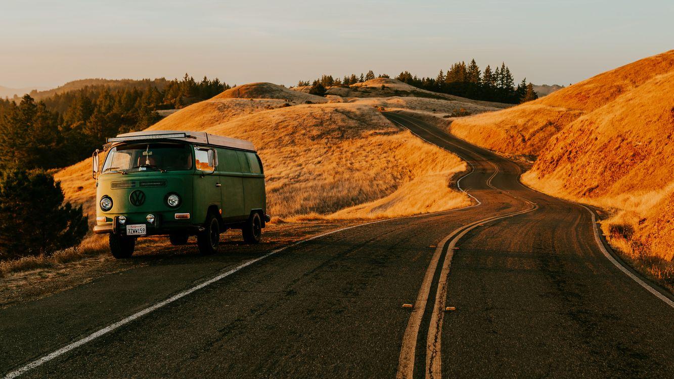 Фото бесплатно калифорния, автобусы, дороги - на рабочий стол