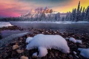 Заставки Castle mountain, Banff, Canada