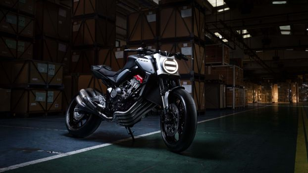 Photo free motorcycle, side view, honda neo sports cafe cb650r