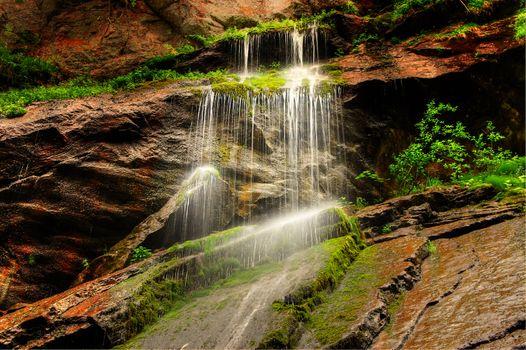 Заставки водопад, скалы, камень