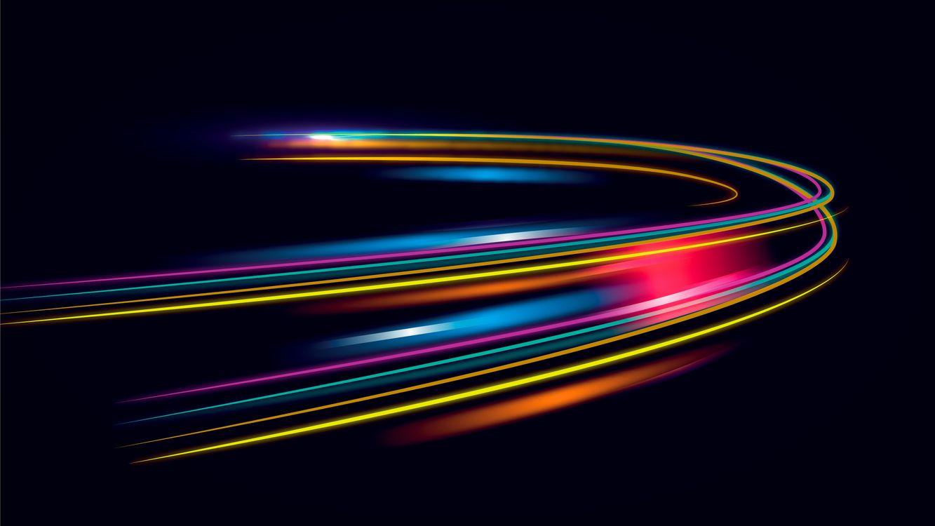 Фото бесплатно линии, разноцветные, скорость света - на рабочий стол