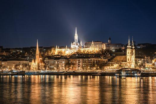 Фото бесплатно Hungary, огни, город