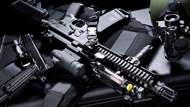 Photo free pistol, automaton, military