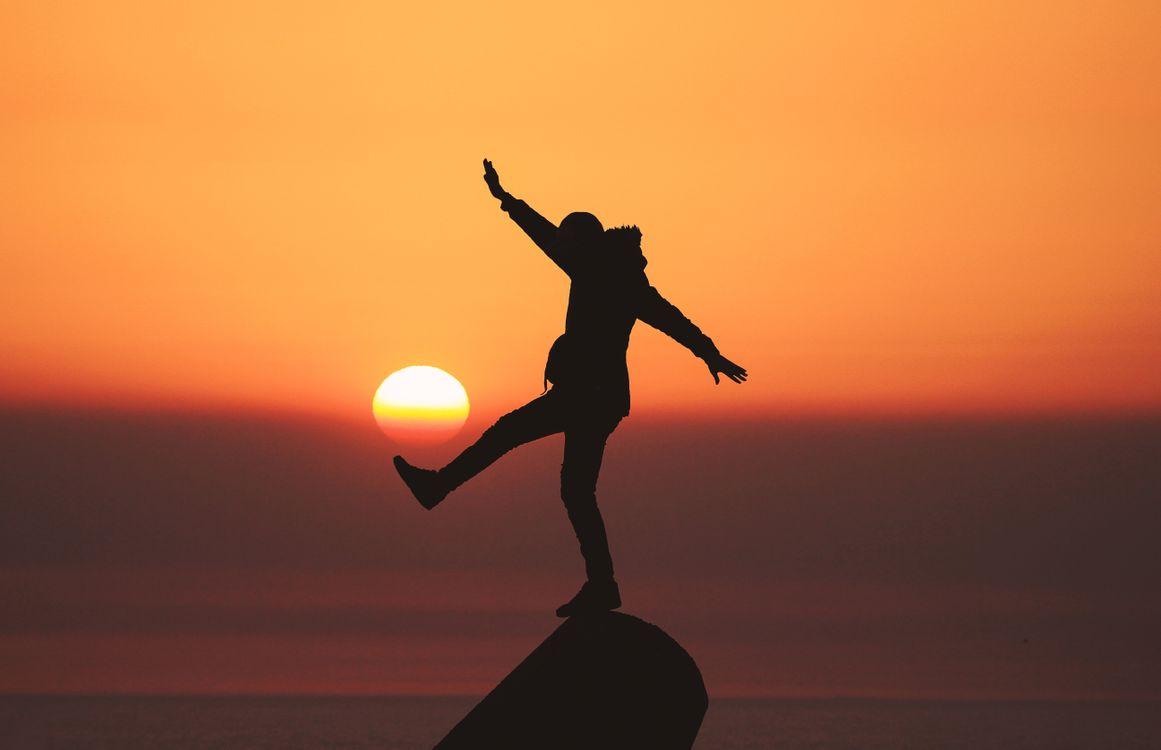 Фото бесплатно человек, силуэт, солнце, закат, man, silhouette, sun, sunset, ситуации