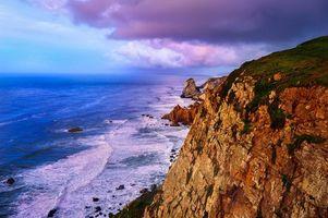 Бесплатные фото Испания,Кабо-да-Рока,море,скалы,волны,пейзаж