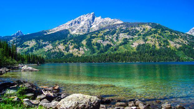 Фото бесплатно национальный парк Гранд Тетон, озеро Дженни, пейзажи