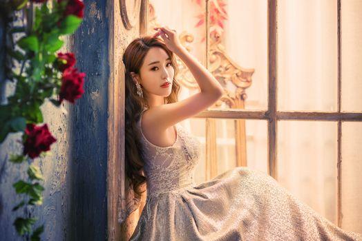 Фото бесплатно молодая женщина, коричневые волосы, азиатка