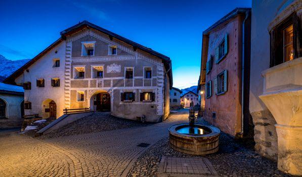Photo free evening, houses Switzerland, building
