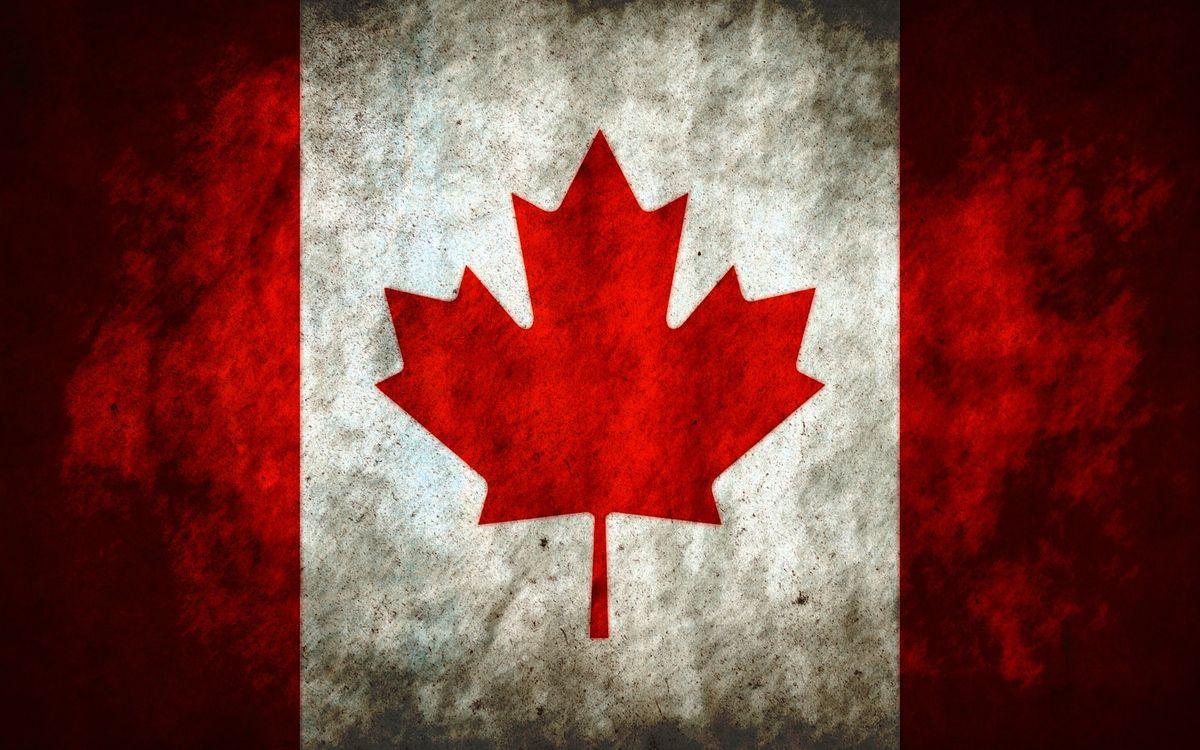 Фото бесплатно Канада, флаг Канады, красный - на рабочий стол