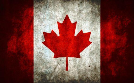 Фото бесплатно Канада, флаг Канады, красный