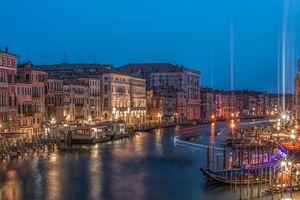 Заставки Venice, ночной город, Italy